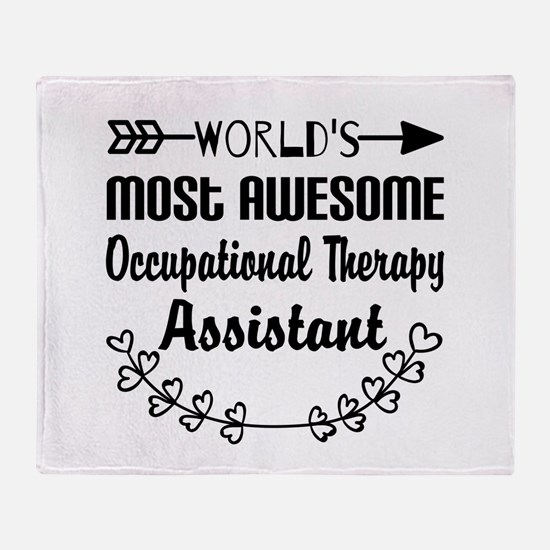 Occupational Therapy Assistant Throw Blanket