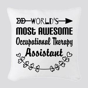 Occupational Therapy Assistant Woven Throw Pillow