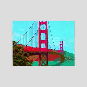 Golden_Gate_Bridge_2015_0422 5'x7'Area Rug