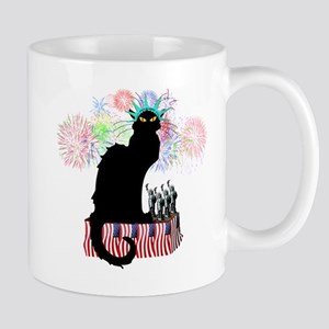Lady Liberty - Patriotic Le Chat Noir  Mug