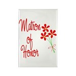 Bouquet Matron of Honor Rectangle Magnet (10 pack)