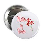 Bouquet Matron of Honor Button