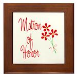 Bouquet Matron of Honor Framed Tile