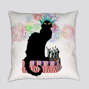 Lady Liberty - Patriotic Le Chat N Everyday Pillow