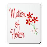 Bouquet Matron of Honor Mousepad