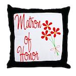 Bouquet Matron of Honor Throw Pillow