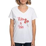 Bouquet Matron of Honor Women's V-Neck T-Shirt