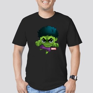Hulk Stylized Men's Fitted T-Shirt (dark)