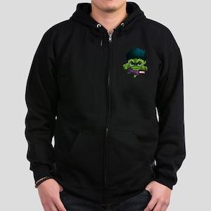 Hulk Stylized Zip Hoodie (dark)