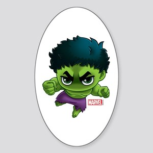 Hulk Stylized Sticker (Oval)