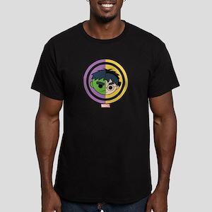 Hulk Stylized Badge Men's Fitted T-Shirt (dark)