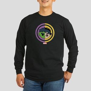 Hulk Stylized Badge Long Sleeve Dark T-Shirt