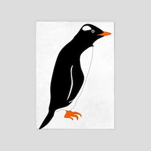 Gentoo Penguin 5'x7'area Rug