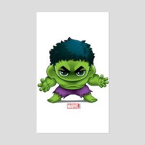 Hulk Stylized Sticker (Rectangle)