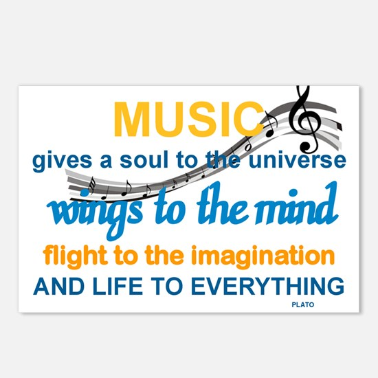 MUSIC GIVES LIFE TO EVERY Postcards (Package of 8)