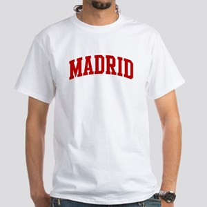 MADRID (red) White T-Shirt