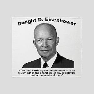 Eisenhower: Intolerance Throw Blanket