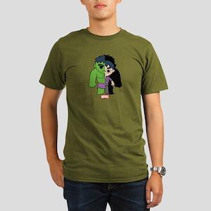 Chibi Hulk Half-and-H Organic Men's T-Shirt (dark)