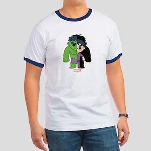 Chibi Hulk Half-and-Half Ringer T