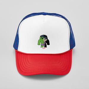 Chibi Hulk Half-and-Half Trucker Hat