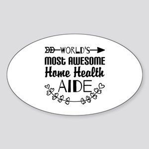 World's Most Awesome Home Health Ai Sticker (Oval)