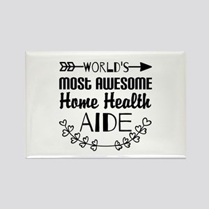 World's Most Awesome Home Health Rectangle Magnet