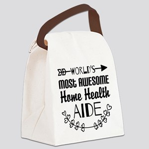 World's Most Awesome Home Health Canvas Lunch Bag