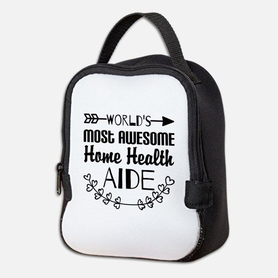 World's Most Awesome Home Healt Neoprene Lunch Bag