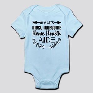 World's Most Awesome Home Health A Infant Bodysuit