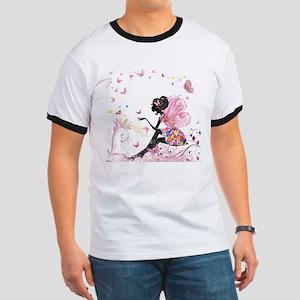Whimsical Pink Flower Fairy Girl Bu T-Shirt