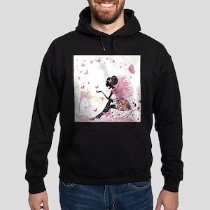 Whimsical Pink Flower Fairy Girl But Hoodie (dark)