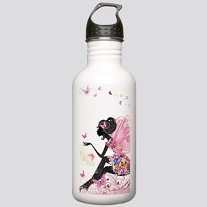 Whimsical Pink Flower Stainless Water Bottle 1.0L
