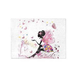 Flower fairy area rugs cafepress mightylinksfo