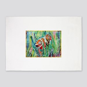 Clown Fish, nature art! 5'x7'Area Rug