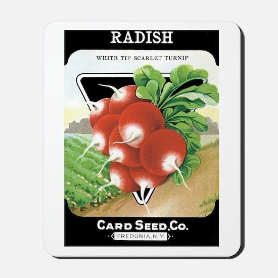 Vintage Radish Seed Packet Mousepad