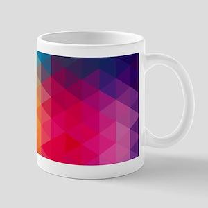 Colorful Modern Mosaic Geometric Pattern Mugs