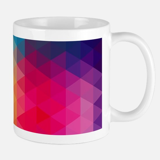 Colorful Modern Mosaic Geometric Pattern Mugs