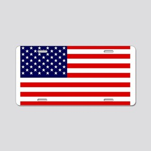 American Flag HQ Aluminum License Plate