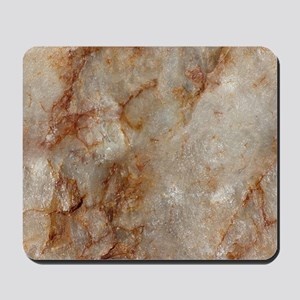 Realistic Brown Faux Marble Stone Patter Mousepad