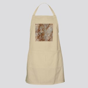 Realistic Brown Faux Marble Stone Pattern Apron