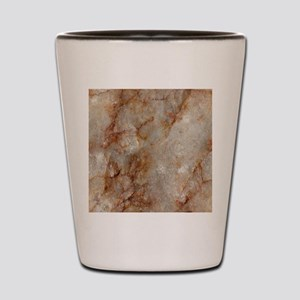 Realistic Brown Faux Marble Stone Patte Shot Glass
