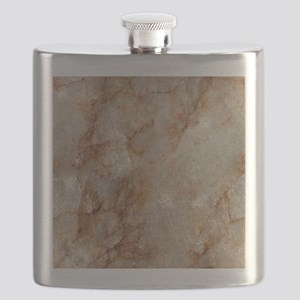 Realistic Brown Faux Marble Stone Pattern Flask