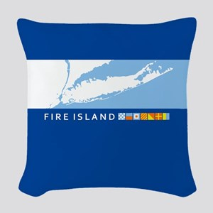 Fire Island - New York. Woven Throw Pillow