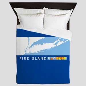 Fire Island - New York. Queen Duvet