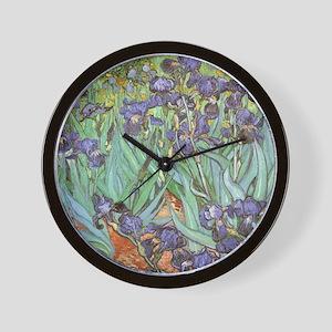 Van Gogh Irises, Vintage Post Impressio Wall Clock