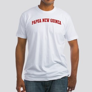 PAPUA NEW GUINEA (red) Fitted T-Shirt