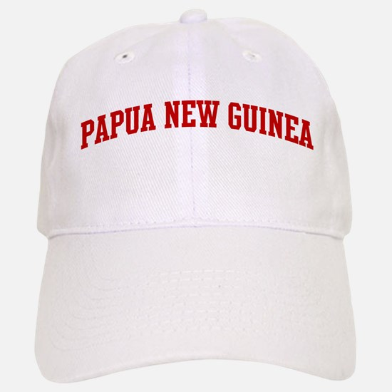 PAPUA NEW GUINEA (red) Baseball Baseball Cap