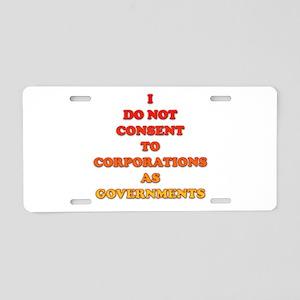 No Corporate Governments Aluminum License Plate
