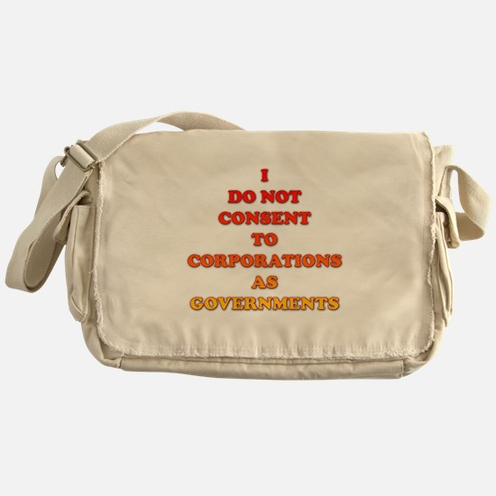 No Corporate Governments Messenger Bag