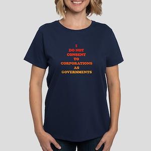 No Corporate Governments Women's Dark T-Shirt